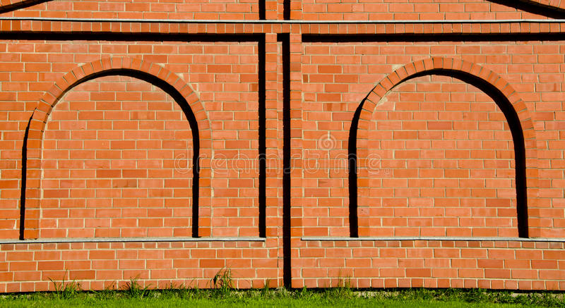 Background decorative brick wall arch imitation royalty free stock image