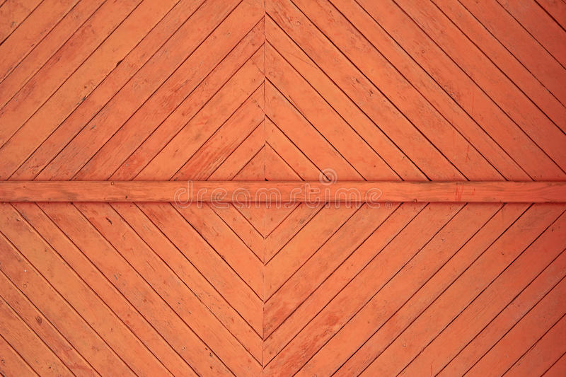 Background. Decorative wooden slats processed at a gate royalty free stock photo