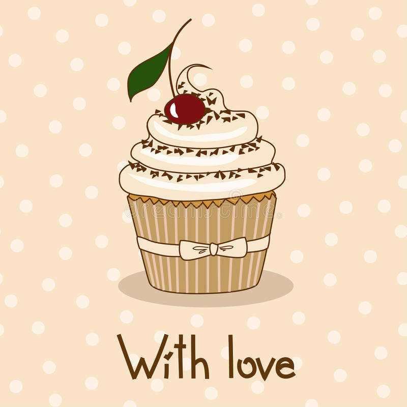 Download Background With Delicious Cupcake Stock Vector - Image: 31713950