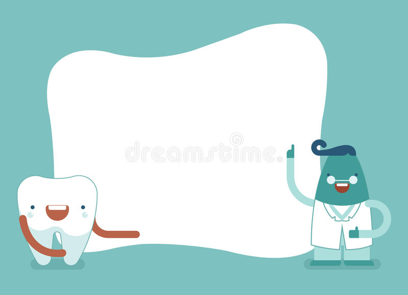 Background Of Dental,tooth And Dentist Set1 Stock Vector