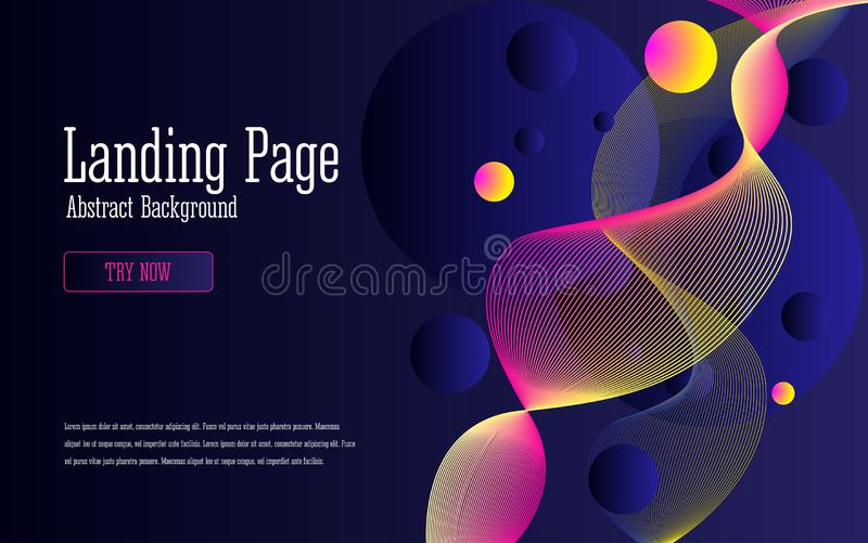 Background design with abstract multicolored flow shapes vector illustration