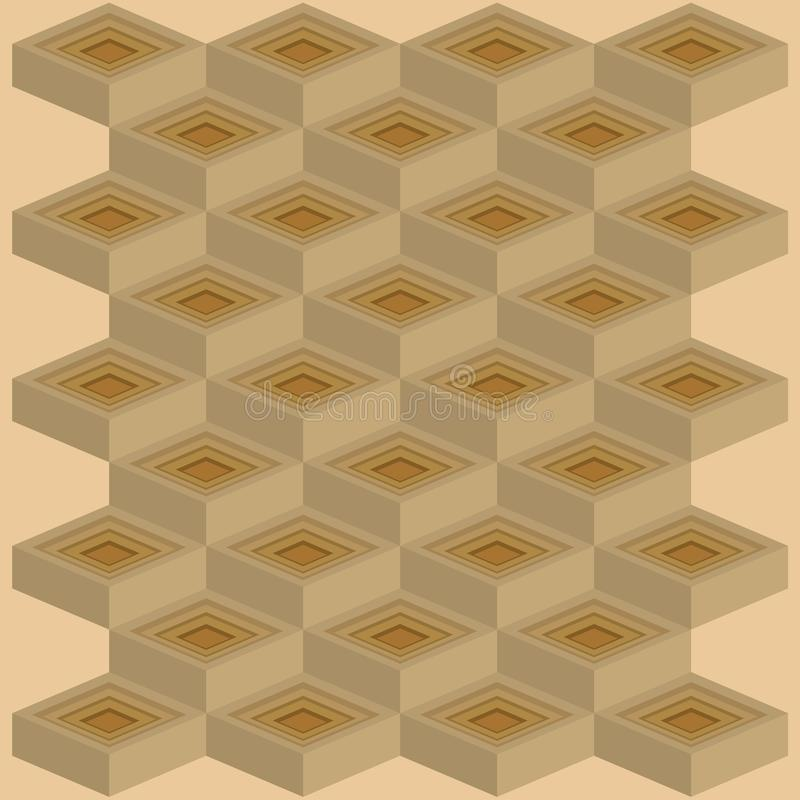 Mosaics of cubes second model royalty free stock photo