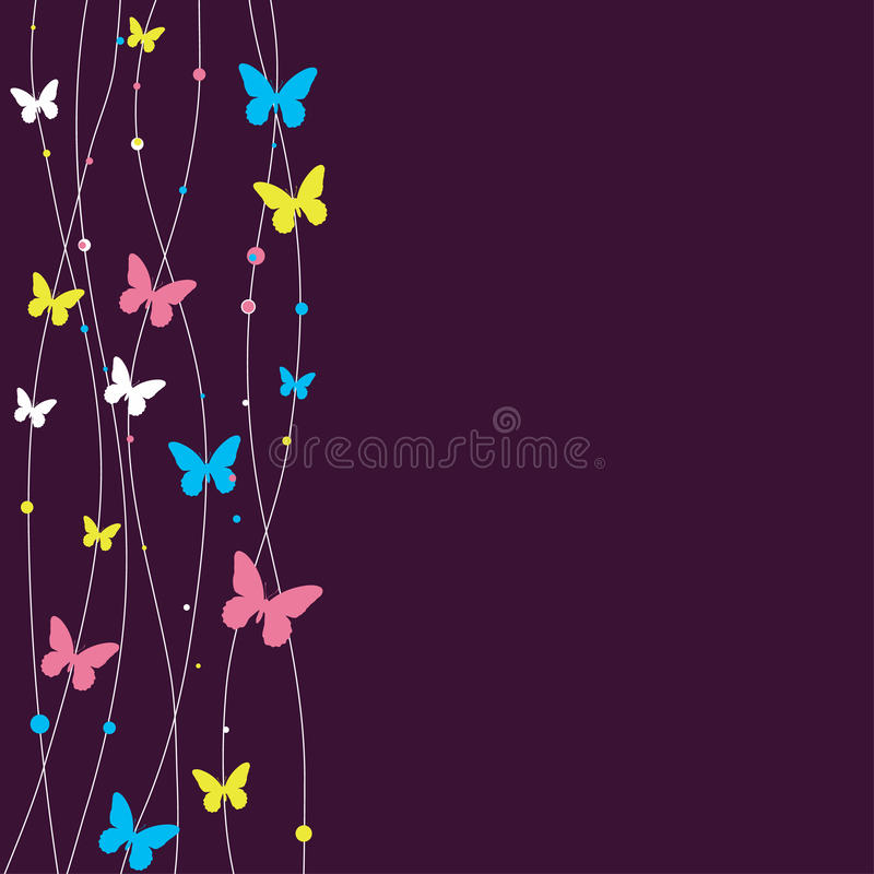 Background design with butterfly. stock illustration