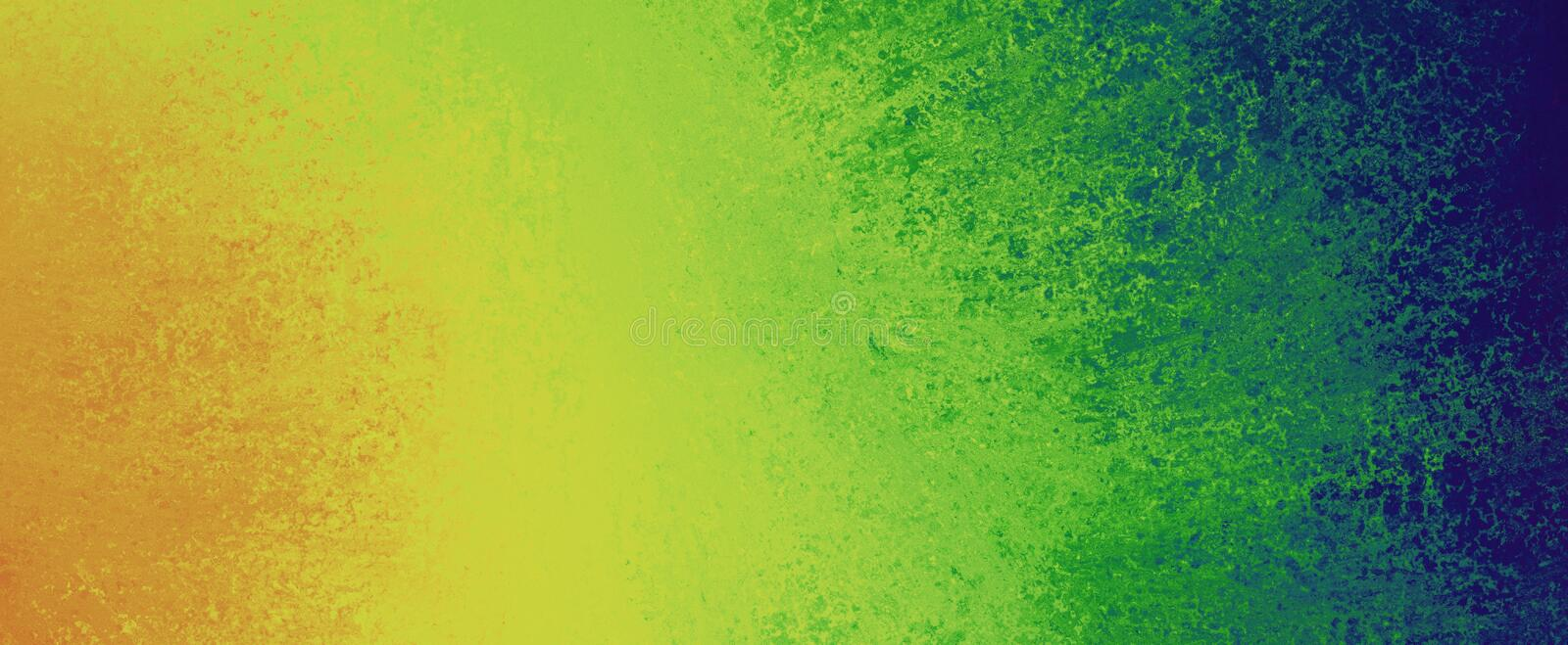 Background design with orange yellow green and blue sponged paint texture in graphic art layout, creative fun and bright color abs royalty free stock images