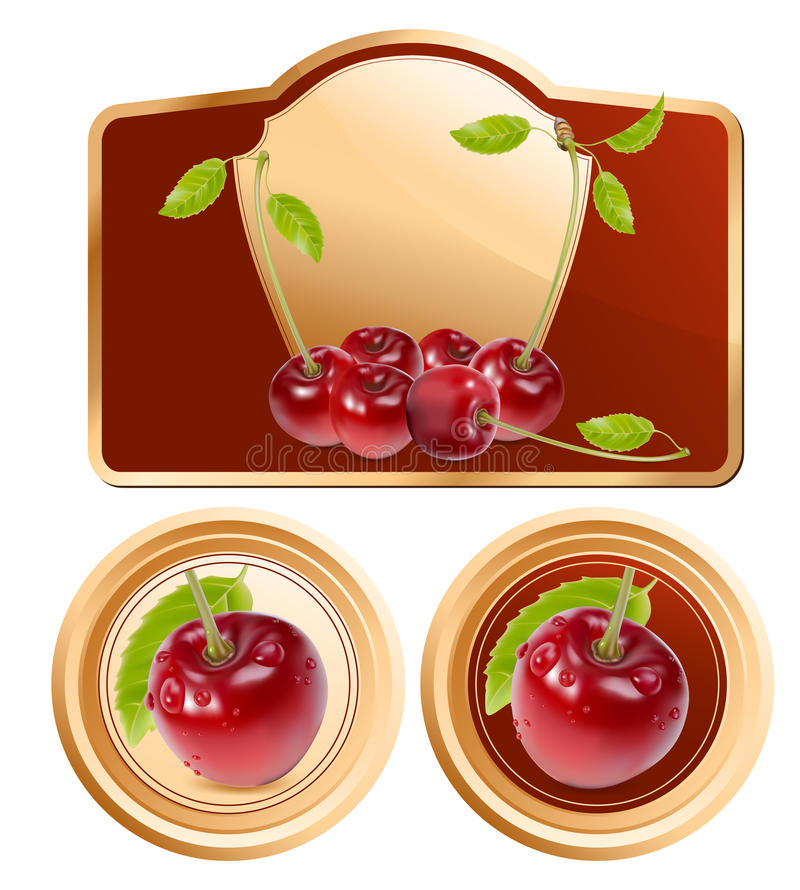 Download Background For Design Of Packing Jam Jar With Pho Stock Vector - Illustration of cherry, beautiful: 14052015