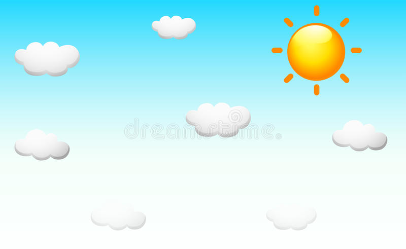 Download Background Design With The Sun In The Sky Stock Illustration - Illustration: 82993986
