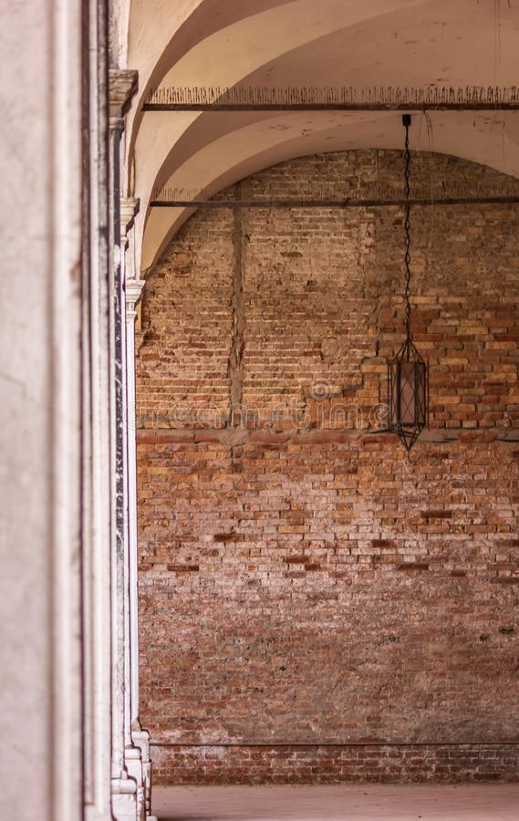 Background with details of worked stones or walls. stone is one of the first materials used by man. details shot in an art institu. Te in Venice stock photos
