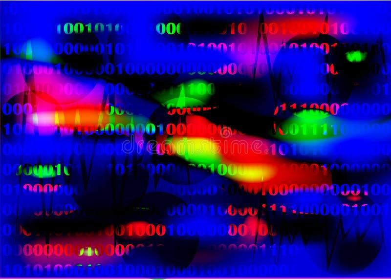 Background digital. Illustration background digital mathematical color stock illustration