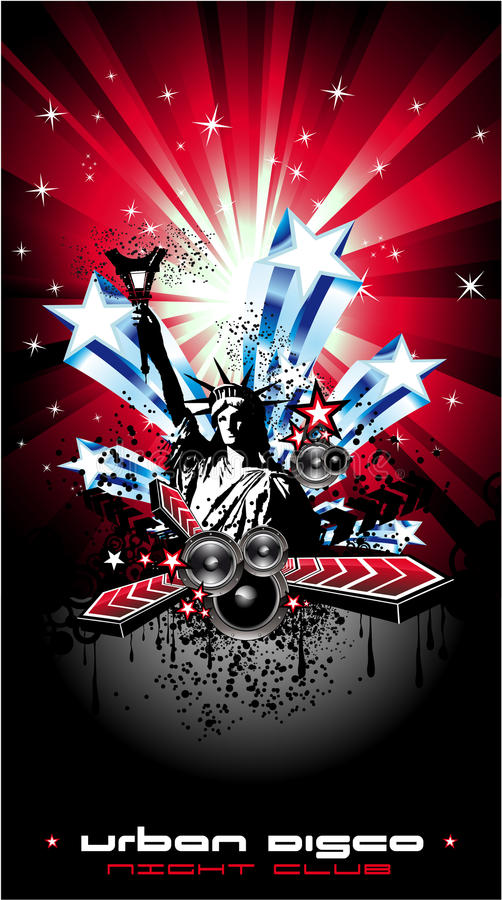 Download Background For Disco Flyers With USA Flag Motive Stock Vector - Image: 10973577
