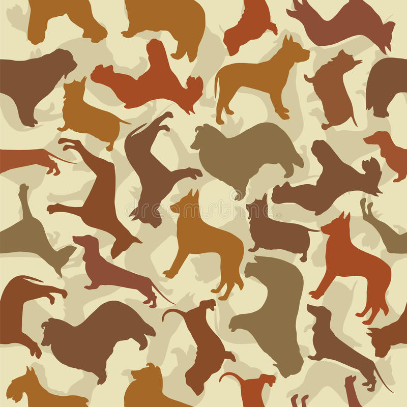 Background with dogs vector illustration