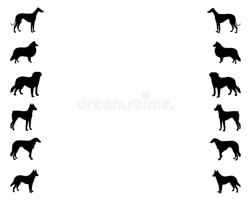 Background With Dogs Royalty Free Stock Photos