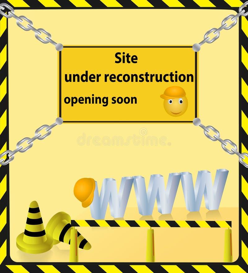Download Background Of Doing Technical Work On The Site Stock Illustration - Illustration of handcarves, warning: 32181742
