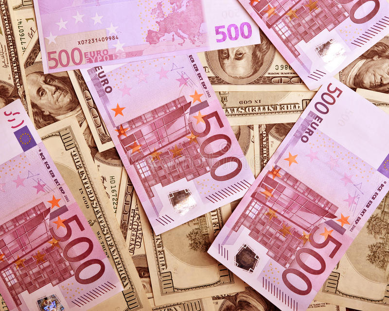Download Background Of Dollars And Euro Stock Photo - Image: 13391262