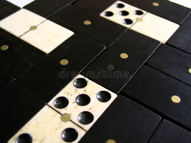 Background - domino pieces royalty free stock photo