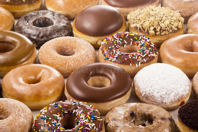 Background of Donuts stock image