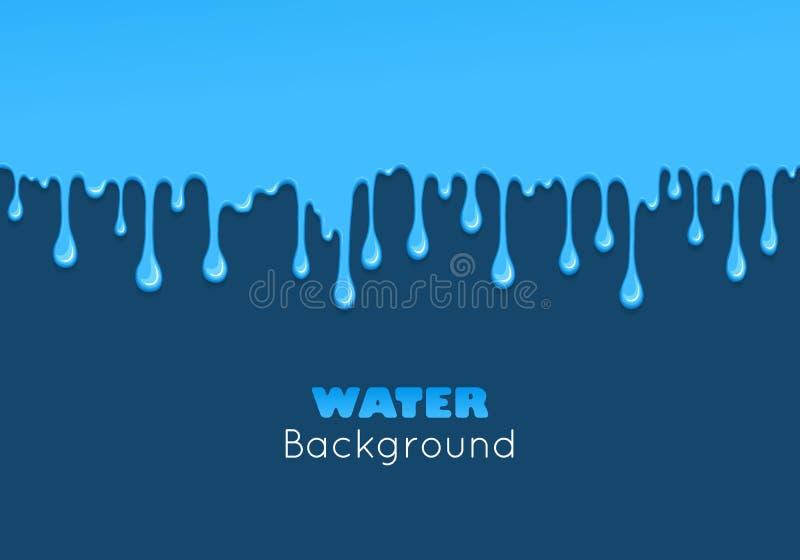 Background of dribble blue liquid. royalty free illustration