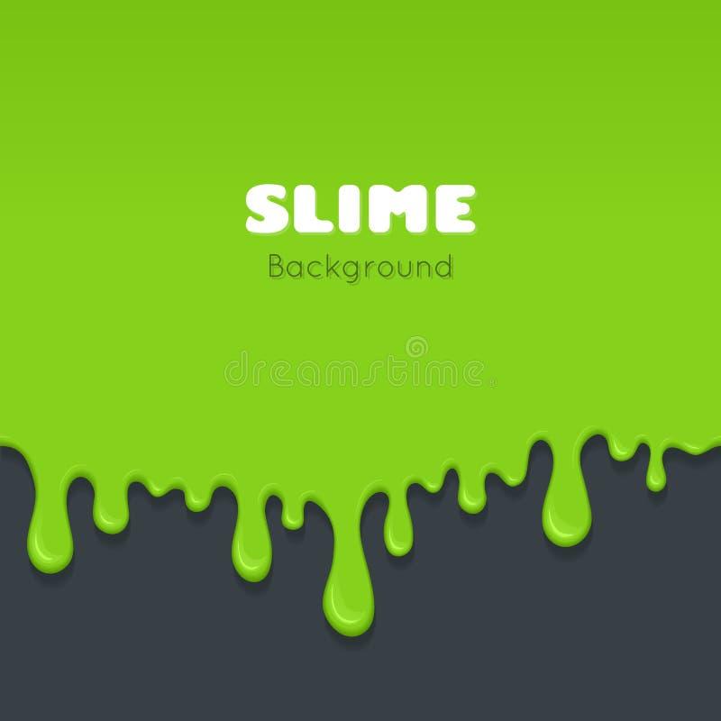 Background of dribble green slime. stock illustration