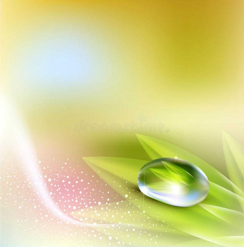 Download Background With Drop Of Dew Stock Illustration - Image: 24002983