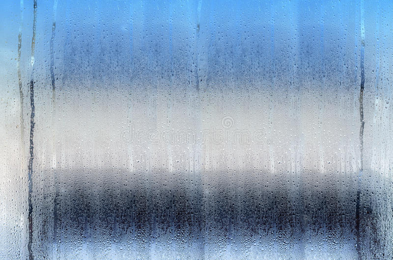 Background with drops on glass, tricolor. royalty free stock photos