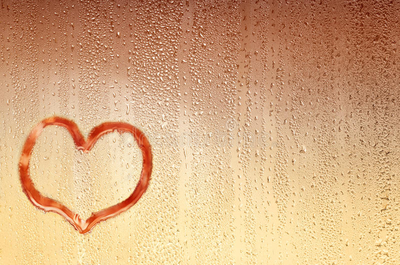 Background with drops and heart royalty free stock image