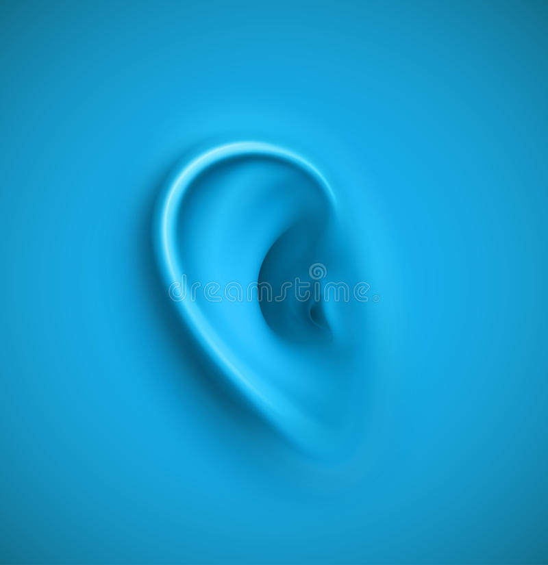 Background with ear vector illustration