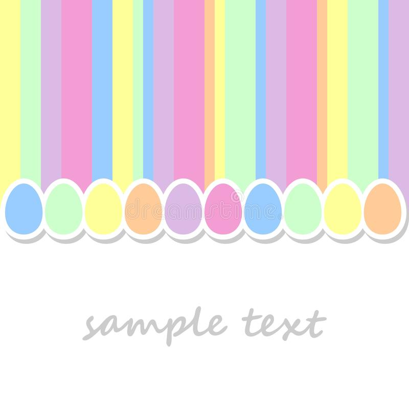 Background with easter eggs royalty free illustration