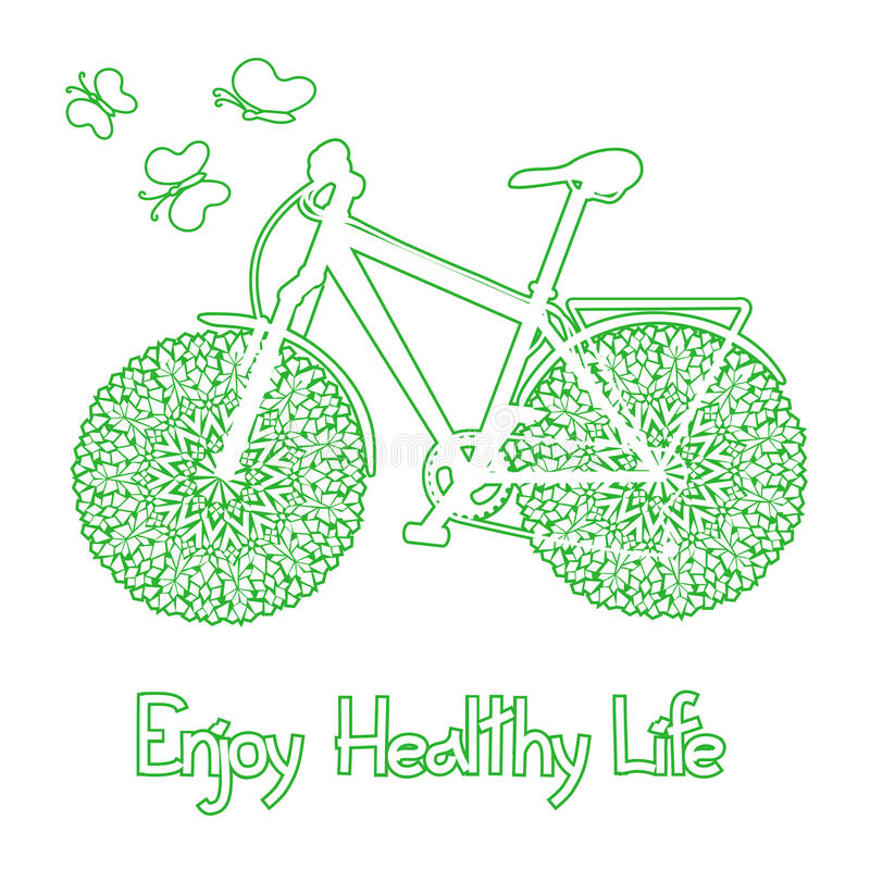 Download Background With Eco Bicycle Stock Vector - Image: 31846553