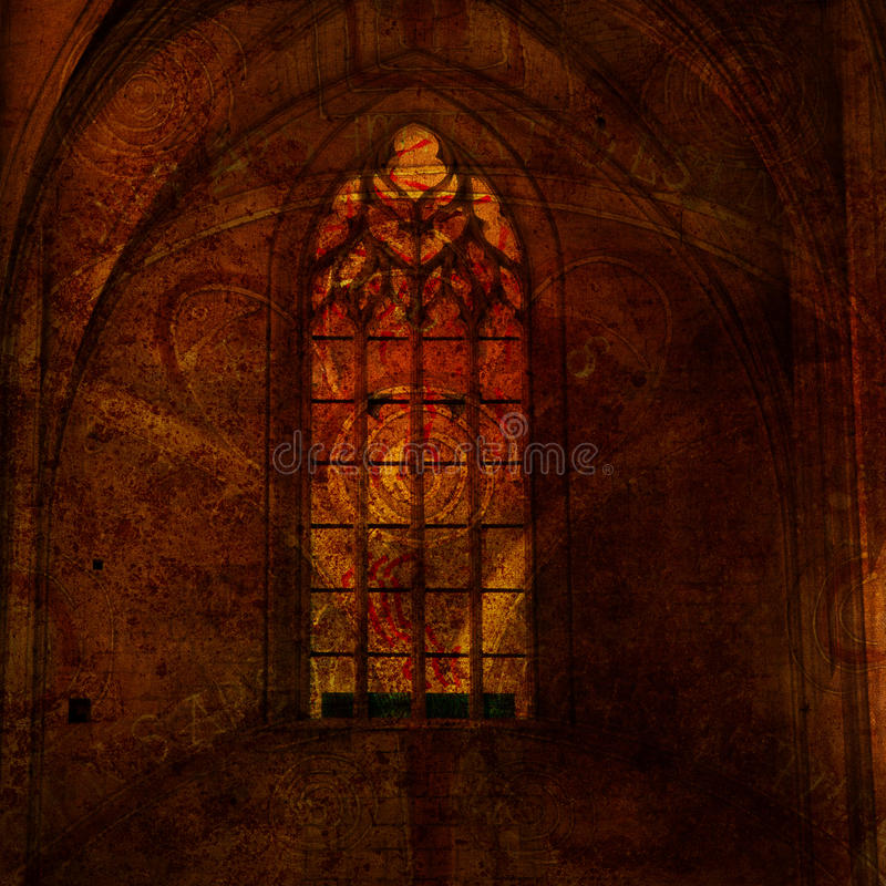 Background with the elements of Gothic stock illustration