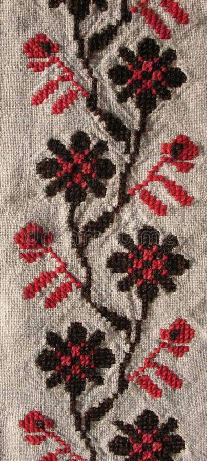 Download Background. Embroidery Pattern Stock Photo - Image: 7490758