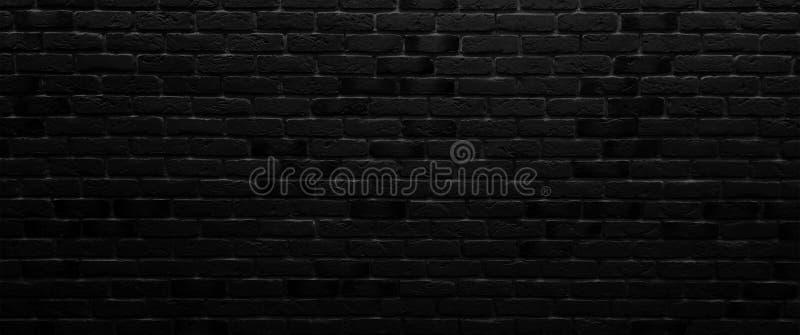 Brick walls, neon rays and glow. Background of an empty dark-black room. Empty brick walls, lights, smoke, glow, rays royalty free stock image