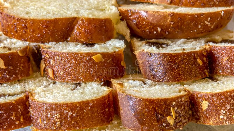 Background of Ester traditional sliced bread royalty free stock photos