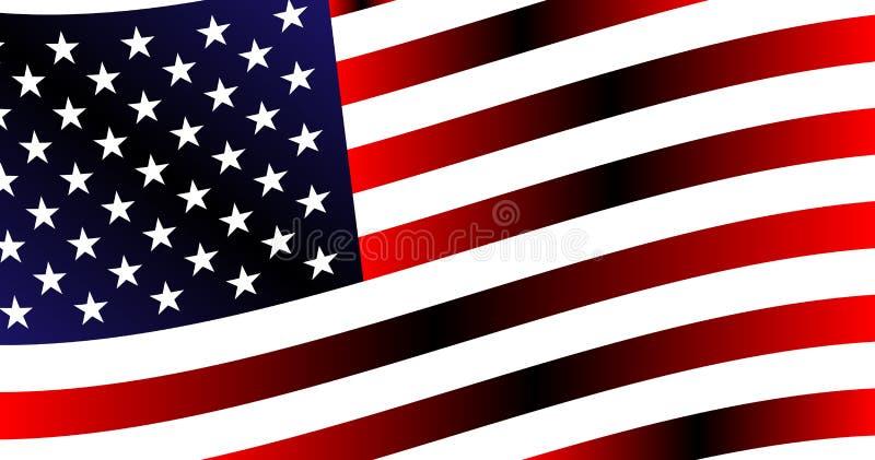 Background of the evolving american flag. Backdrop, beautiful background of the evolving american flag stock illustration