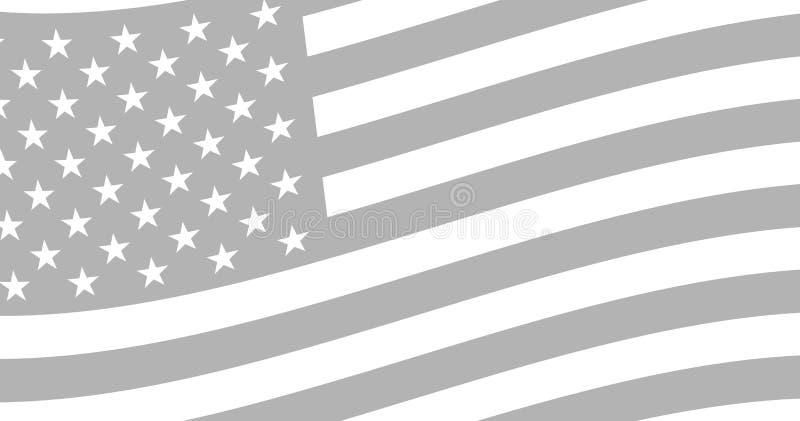 Background of the evolving american flag. Backdrop, beautiful background of the evolving american flag vector illustration