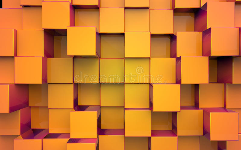 Background from extruded squares vector illustration