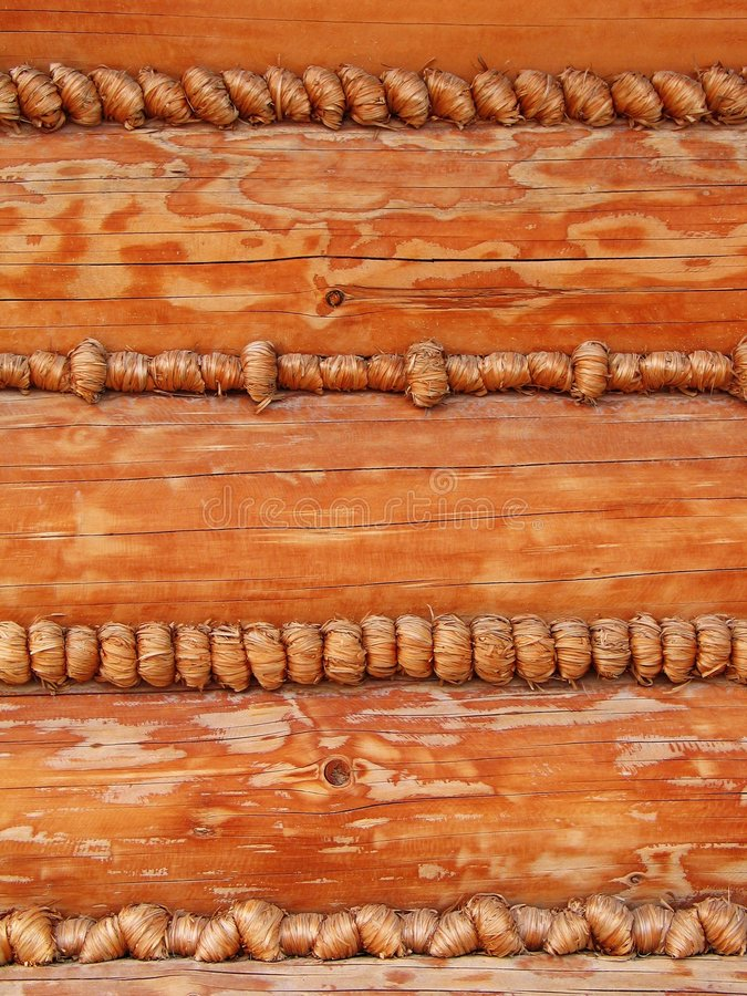 Background - fancy log house wall stock image