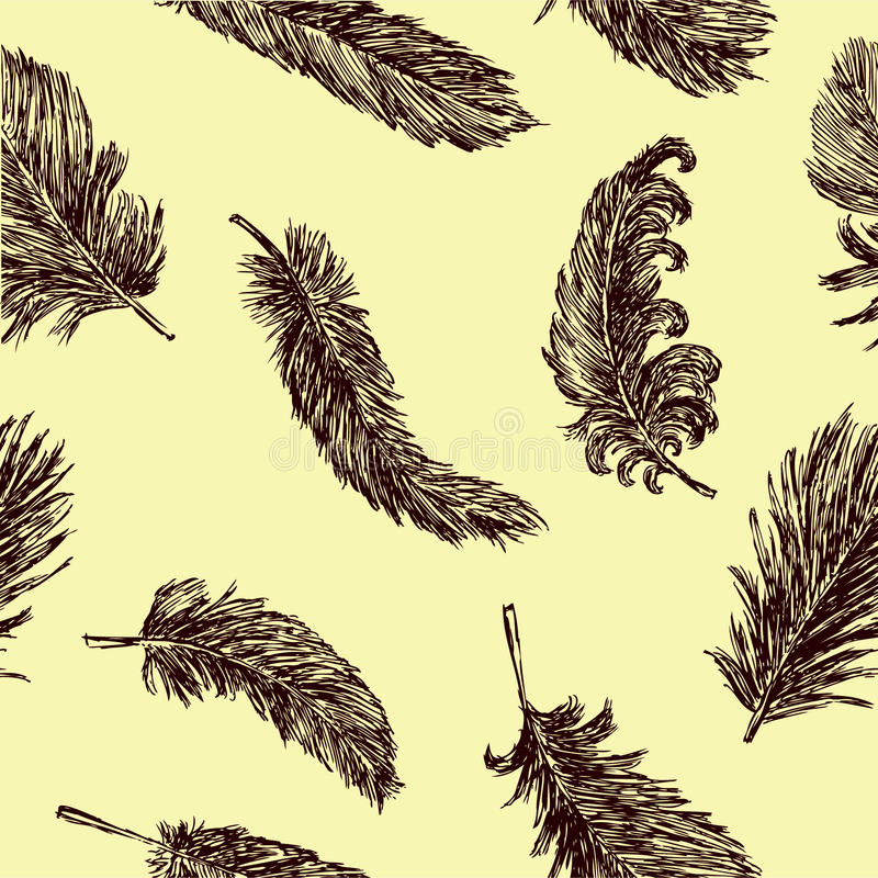Background with a feathers stock illustration