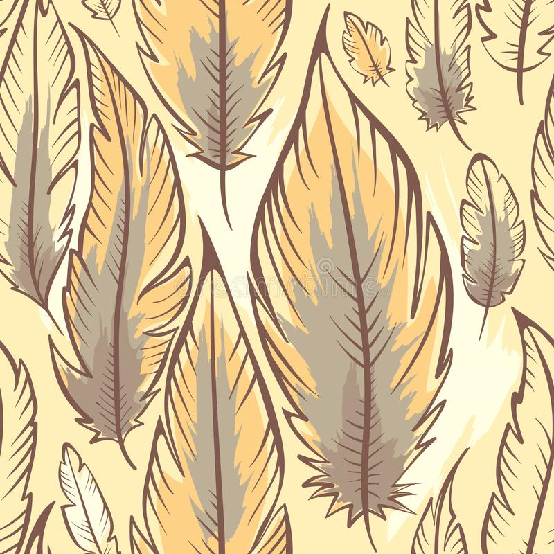 Background with feathers stock illustration