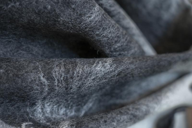 Background felt drape black grey decorative, design, royalty free stock photography