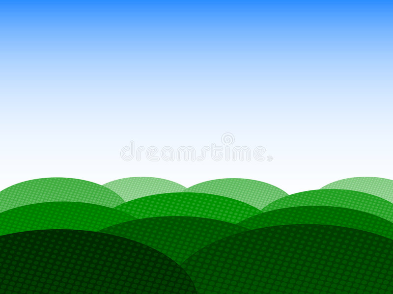 Background with field and sky