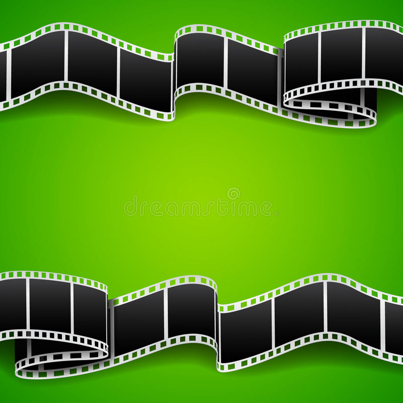 Background with film reel. Cinema background. EPS10 vector stock illustration