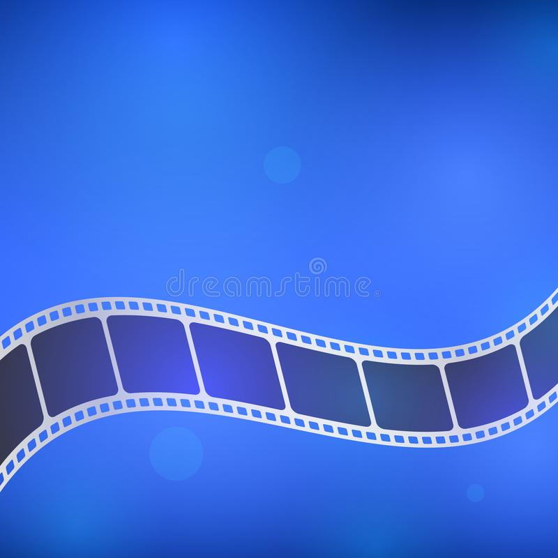 Background with film strip. Cinema concept vector illustration. Cinema concept vector illustration. Background with film strip royalty free illustration