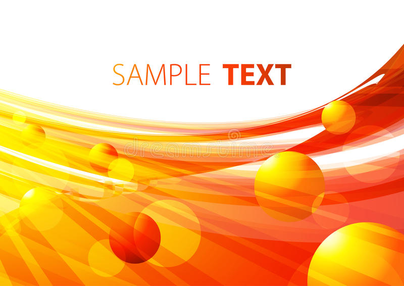 Background with fireballs. Bright background with fiery spheres stock illustration