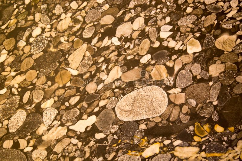 Background Floors of polished pebbles stones grey yellow. Backgrounds Structure royalty free stock image