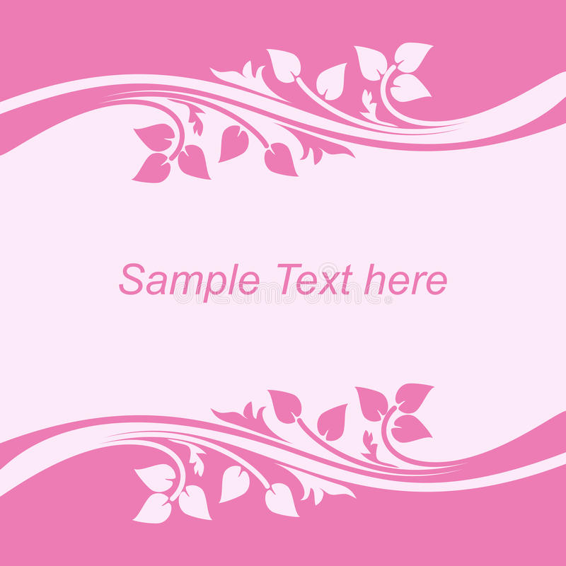 Background with floral Borders in shades of pink. royalty free illustration