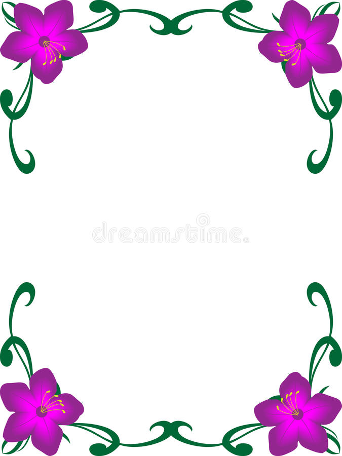 Background Floral Corner Border Royalty Free Stock Photography