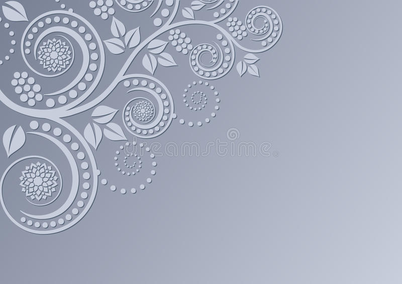 Download Background With Floral Decoration Stock Vector - Image: 25660993