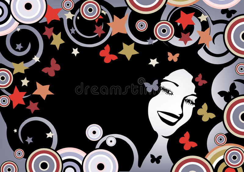background floral funky бесплатная иллюстрация