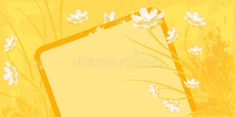 background floral grunge иллюстрация штока