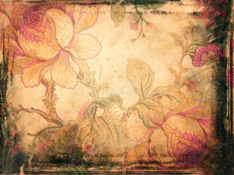 Background with floral ornaments stock illustration