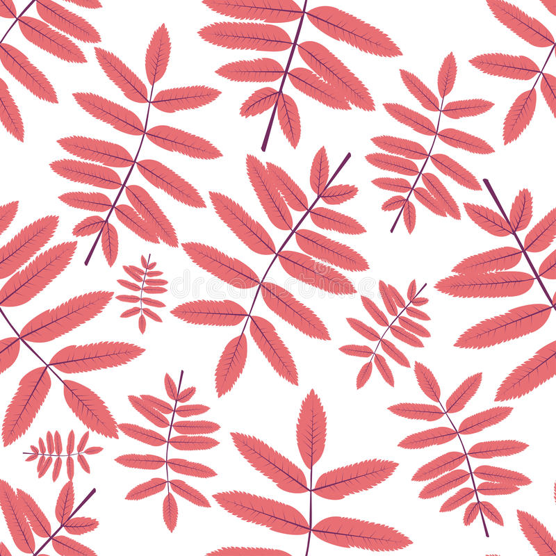 Seamless patterns with leaves stock photos